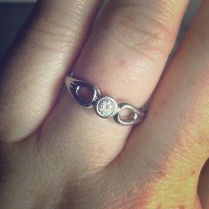 TIFFANY & CO. Elsa Peretti Platinum & Diamond Ring